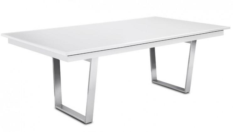 Jídelní stůl Deck 220 cm (deska bílá/kostra ocel)