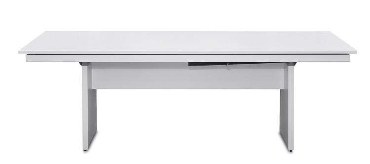 Jídelní stůl Deck 220 cm (deska bílá/kostra panely bílá)