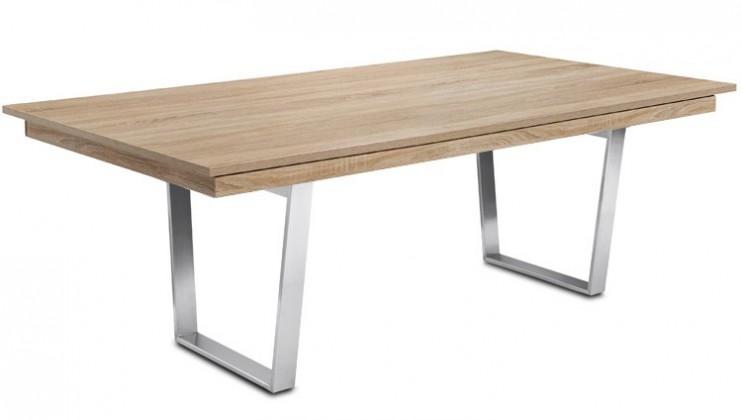 Jídelní stůl Deck 220 cm (deska dub/kostra ocel)