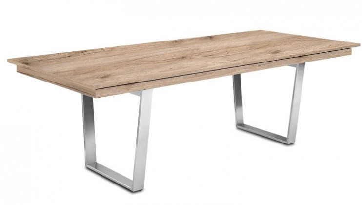 Jídelní stůl Deck 220 cm (deska pískový dub/kostra ocel)
