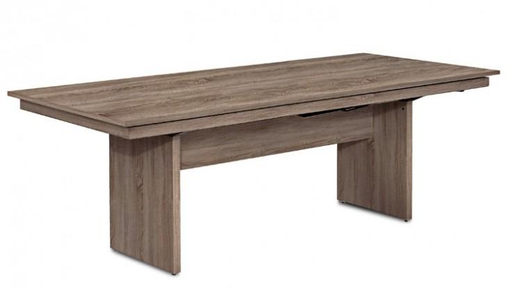 Jídelní stůl Deck 220 cm (deska tmavý dub/kostra panely tmavý dub)