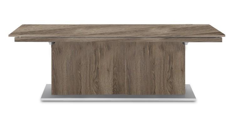 Jídelní stůl Deck 220 cm (deska tmavý dub/kostra postavec tmavý dub)