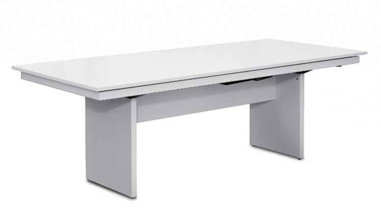 Jídelní stůl Deck 220 cm, rozkládací  (deska bílá/kostra panely bílá)