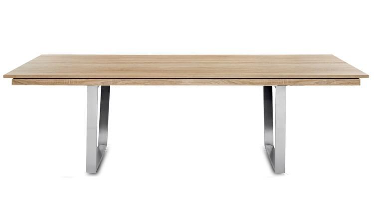 Jídelní stůl Deck 220 cm, rozkládací  (deska dub/kostra ocel)