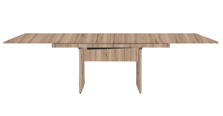Jídelní stůl Deck 220 cm, rozkládací  (deska pískový dub/pískový dub)