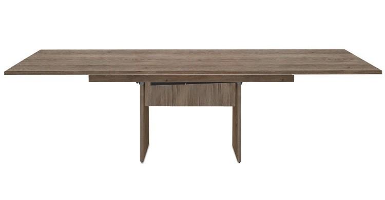 Jídelní stůl Deck 220 cm, rozkládací  (tmavý dub/kostra panely tmavý dub)