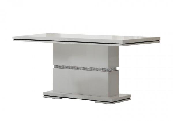 Jídelní stůl Diva - Jídelní stůl 160 cm (bílá/diamant)