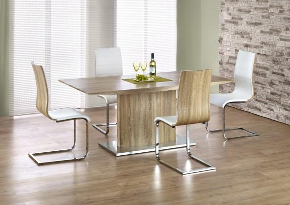 Jídelní stůl Elias - Jídelní stůl 180x90 cm (dub sonoma, stříbrná)