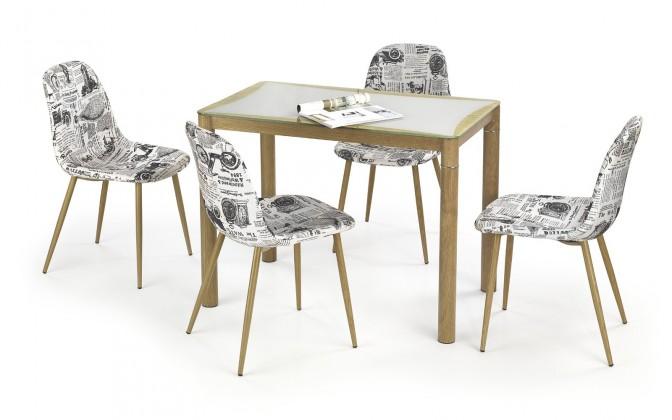 Jídelní stůl Epir - Jídelní stůl 100x60 cm (dub sonoma+šedá, dub medový)