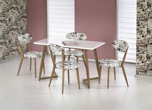 Jídelní stůl Fiero - Jídelní stůl 120x70 cm (bílá, dub medový)