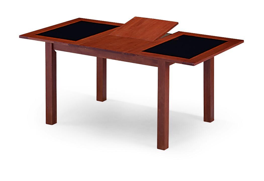Jídelní stůl FIGARI(kaučukovník / sklo, moření třešeň)