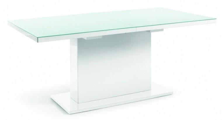 Jídelní stůl Fin (deska bílá/podstavec bílý)