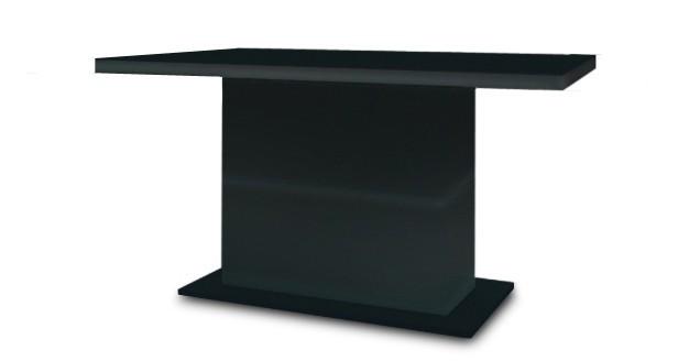 Jídelní stůl Fin (deska černá/podstavec černý)