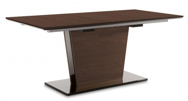 Jídelní stůl Fin (deska, panel čokoládový jasan/podtavec černý)