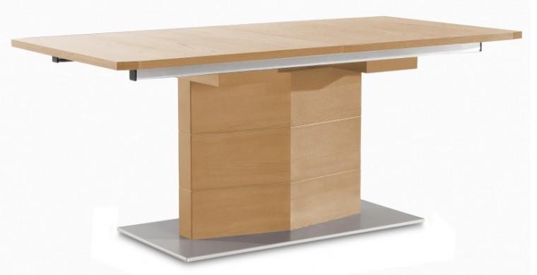 Jídelní stůl Fin (deska, panel dub/podstavec hliník)