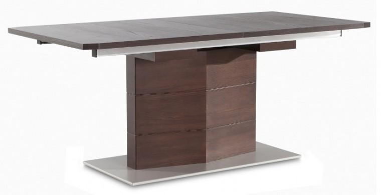 Jídelní stůl Fin (deska, panel wenge/podstavec hliník)