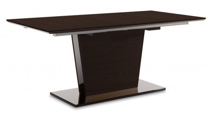 Jídelní stůl Fin (deska, panel wenge/podtavec černý)