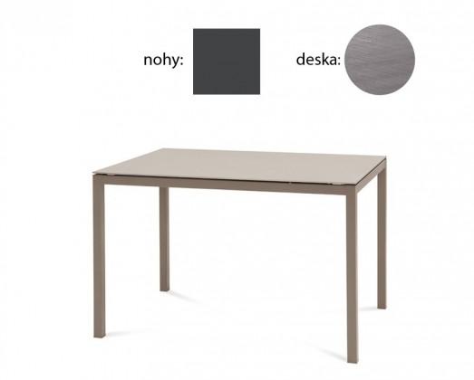 Jídelní stůl Full - Jídelní stůl (lak antracit matný, antický dub)