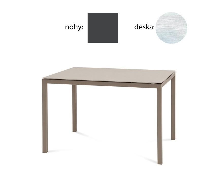 Jídelní stůl Full - Jídelní stůl (lak antracit matný, bílá struktura)