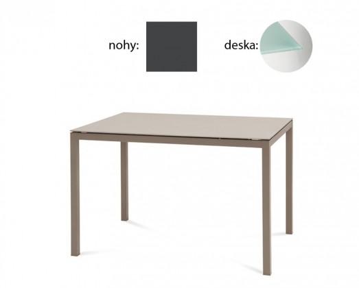 Jídelní stůl Full - Jídelní stůl (lak antracit matný, tištěné sklo)