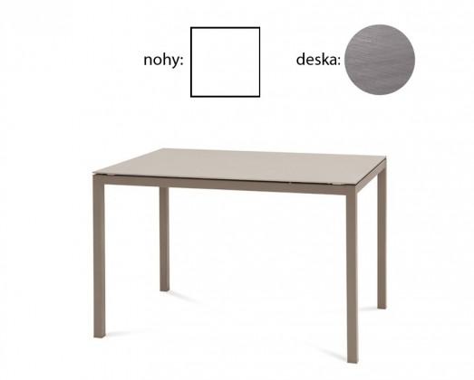 Jídelní stůl Full - Jídelní stůl (lak bílý matný, antický dub)
