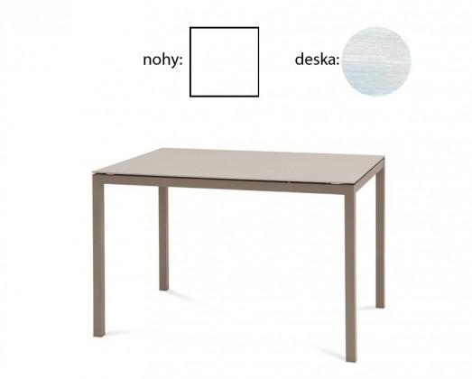 Jídelní stůl Full - Jídelní stůl (lak bílý matný, bílá struktura)
