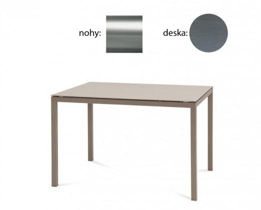 Jídelní stůl Full - Jídelní stůl (saténový hliník, šedá struktura)