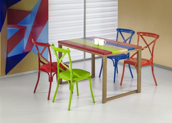 Jídelní stůl Garmin - Jídelní stůl 120x80 cm (vícebarevný, dub medový)