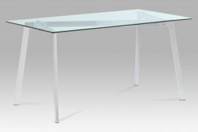 Jídelní stůl GDT - 150x75x80 cm (čiré sklo/chrom)