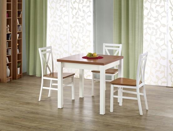 Jídelní stůl Gracjan - Jídelní stůl 80-160x80 cm (olše, bílá)