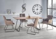 Jídelní stůl Houston - 180x90x76 cm (ořech/černá)