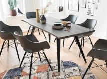 Jídelní stůl Jerry (dub, černá)