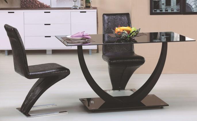 Jídelní stůl Jídelní stůl Anton (sklo - černá/chrom - černá)