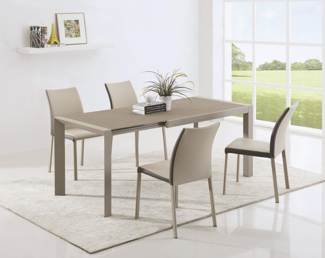 Jídelní stůl Jídelní stůl Arabis 2 - 120-182x80 cm (světle hnědá/béžová)