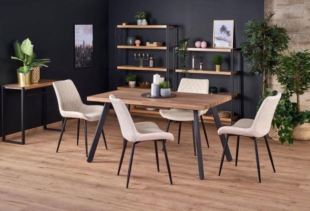 Jídelní stůl jídelní stůl billy rozkládací (ořech, černá)