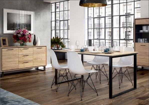 Jídelní stůl jídelní stůl brick (dub craft/černá)