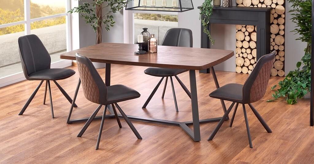 Jídelní stůl Jídelní stůl Caleb (dub, grafit)