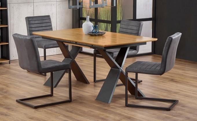 Jídelní stůl jídelní stůl cassius rozkládací (dub, černá)