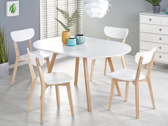 Jídelní stůl jídelní stůl fjord rozkládací (bílá)