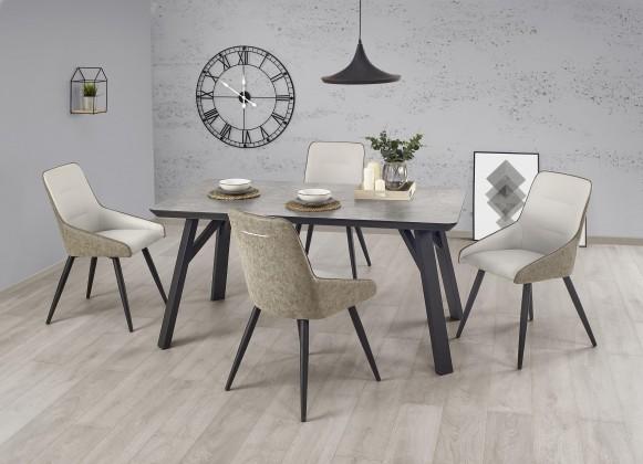 Jídelní stůl Jídelní stůl Halifax - 160x90x76 cm (beton/černá)