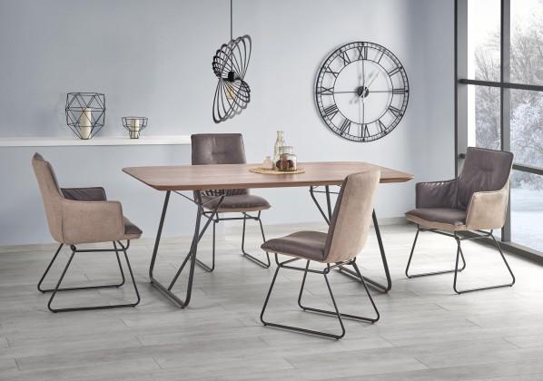 Jídelní stůl jídelní stůl houston - 180x90x76 cm (ořech/černá)