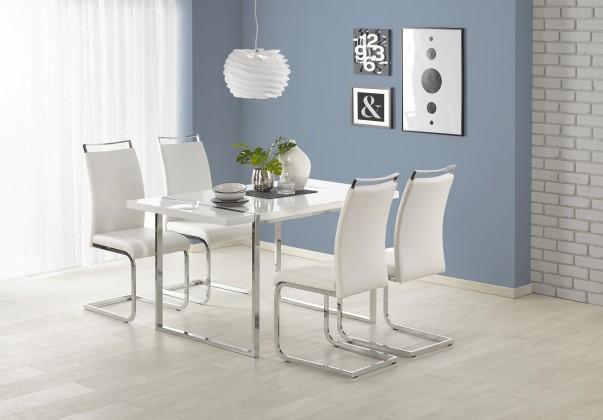 Jídelní stůl Jídelní stůl Lion - 140x80x75 cm (bílá/stříbrná)