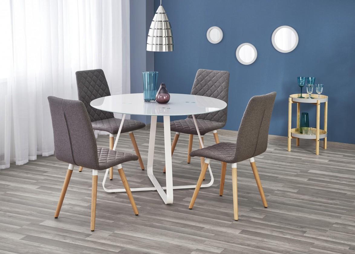 Jídelní stůl Jídelní stůl Looper - prům.115x76 cm (bílá)