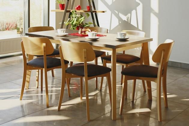 Jídelní stůl jídelní stůl ombo rozkládací (dub, beton)