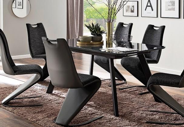 Jídelní stůl Jídelní stůl Omero rozkládací (šedá, černá)