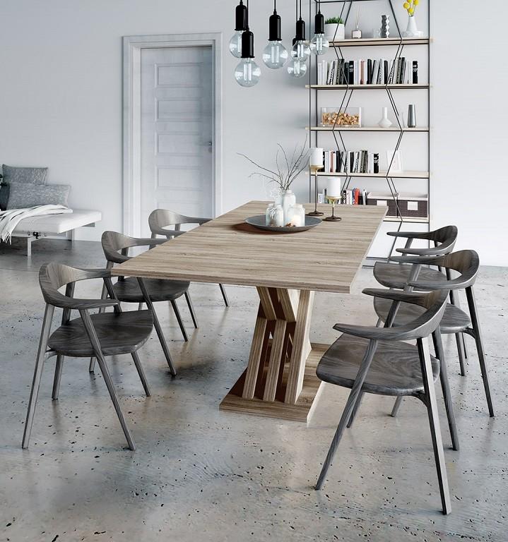 Jídelní stůl Jídelní stůl rozkládací Ettore (dub sonoma)