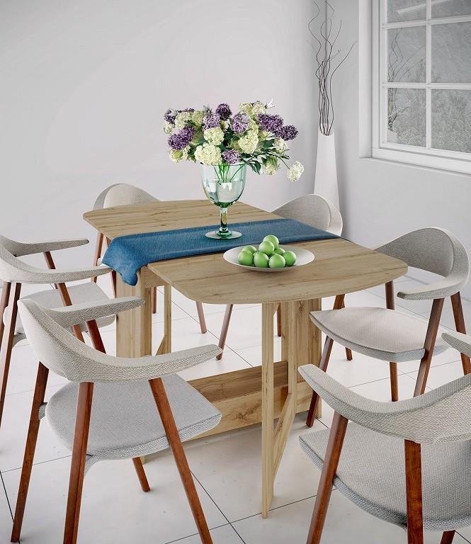 Jídelní stůl Jídelní stůl rozkládací Jannick (dub dakota)