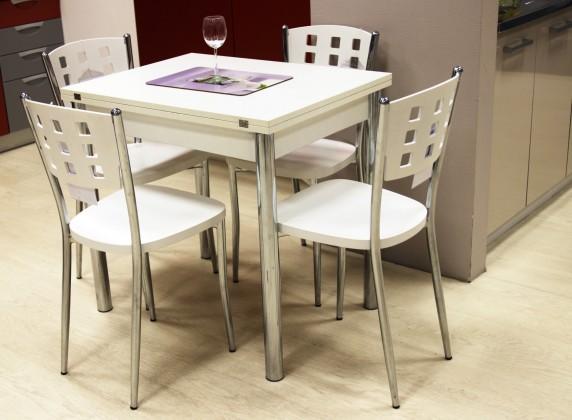 Jídelní stůl Jídelní stůl Treviso - rozkládací (bílá/chrom)