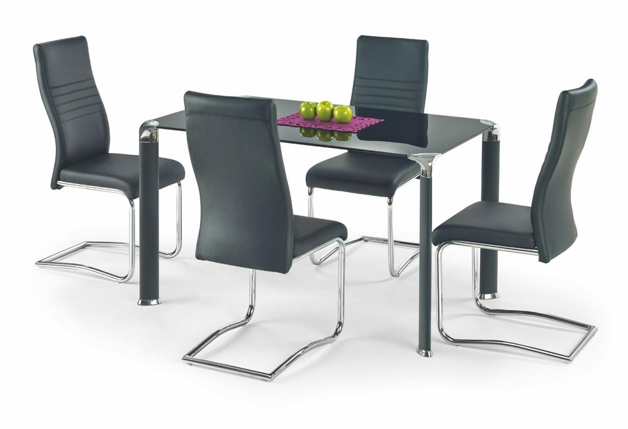 Jídelní stůl Jim - Jídelní stůl 130x80 cm (černá)