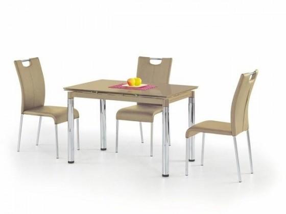 Jídelní stůl L 31 (sklo - béžová / ocel)
